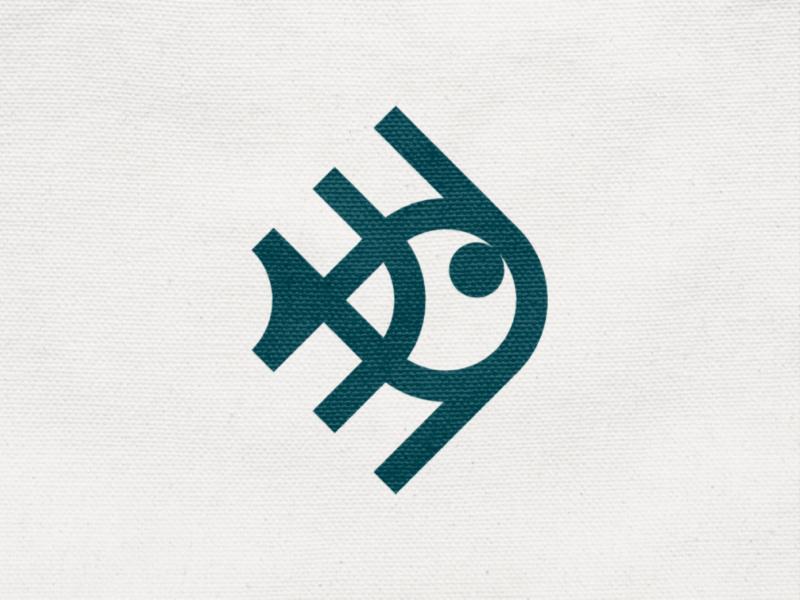 Aquacut! stroke seafood marine sea fish monochrome geometric logodesign logo design symbol branding brand icon mark logo