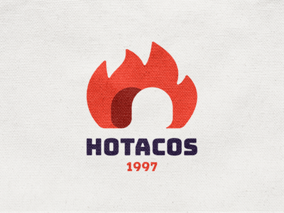 Hotacos! flame faster food mariachi mexico tacos taco hot burn fire monochrome geometric logodesign logo design symbol branding brand icon mark logo