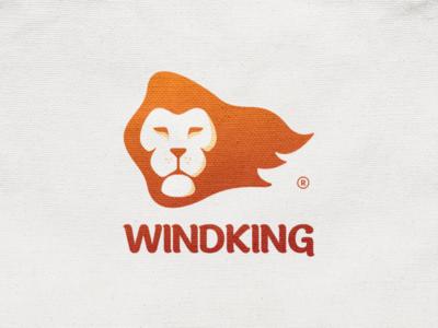 Windking! texture simba cat mascot face king lion hair wind jungle animal illustration logodesign logo design symbol branding brand icon mark logo