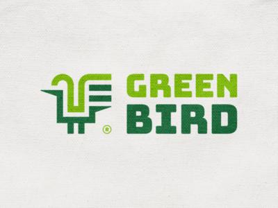 Green bird! nest wings chiken rooster bird abstract monochrome geometric logodesign logo design symbol branding brand icon mark logo