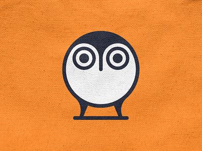 Owlet! animal eyes egg wings nest bird chick owlet owl illustration monochrome geometric logodesign logo design symbol branding brand icon mark logo