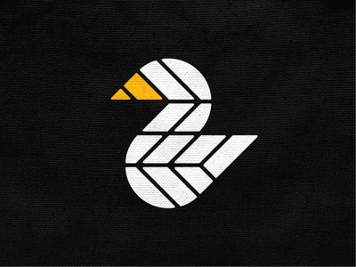 Swan mark! nest wings bird goose crane flamingo swan abstract monochrome geometric logodesign logo design symbol branding brand icon mark logo