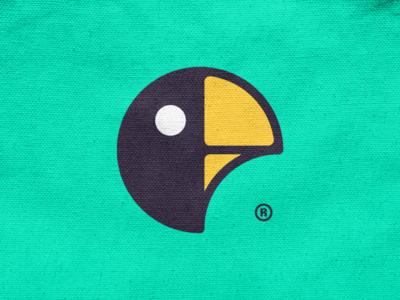 Night Parrot! minimal head wings sparrow light moon window night bird parrot monochrome geometric logodesign logo design symbol branding brand icon mark logo
