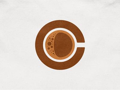 C for Coffee concept type letter c drink cup coffee illustration geometric logodesign logo design symbol branding brand icon mark logo