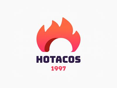 Hotacos! flame fast food burrito mexico tacos taco sandwich burn fire illustration logodesign logo design symbol branding brand icon mark logo