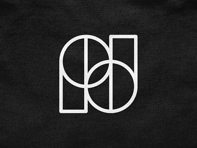 N / PD concept! lettermark monogram d p n type logotype letter monochrome geometric logodesign logo design symbol branding brand icon mark logo