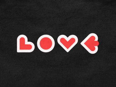 LOVE! cards letter type logotype wordmark heart love geometric logodesign logo design symbol branding brand icon mark logo