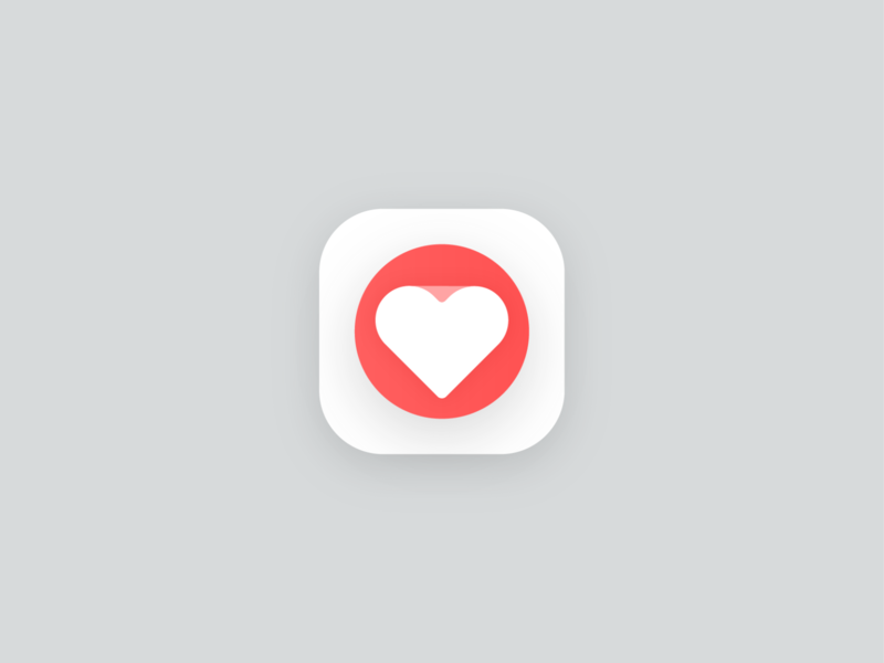 Paper Heart! bigsur apple health ios app matchmaking paper love valentine red heart geometric logodesign logo design symbol branding brand icon mark logo