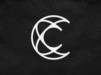 C for Cosmos! abstract logotype c letter atom space cosmos type monogram monochrome geometric logodesign logo design symbol branding brand icon mark logo
