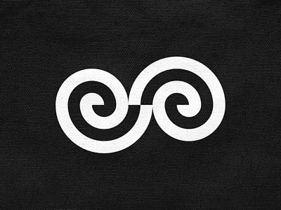 EA! golden ratio swirl type letter s e a monogram abstract monochrome geometric logodesign logo design symbol branding brand icon mark logo