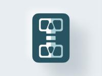 I + Skull mark! skeleton monogram type letter i abstract monochrome geometric logodesign logo design symbol branding brand icon mark logo