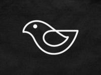 Monoline bird! dove nest wings canary minimal monoline bird abstract monochrome logodesign logo design symbol branding brand icon mark logo