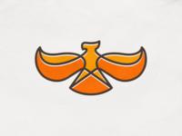 Eagle mark! falcon fire monoline wings eagle bird animal illustration abstract logodesign logo design symbol branding brand icon mark logo