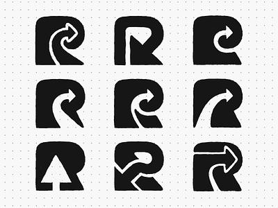 R's and Arrows! cursor click arrows arrow collection logofolio logotype type letter r monochrome geometric logodesign logo design symbol branding brand icon mark logo