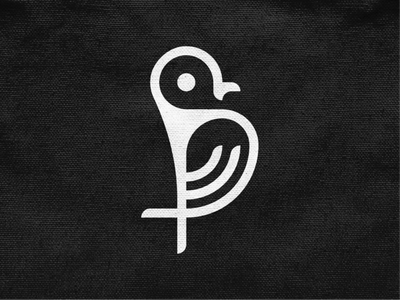 Birdy II nest tweet wings bird monochrome geometric logodesign logo design symbol branding brand icon mark logo