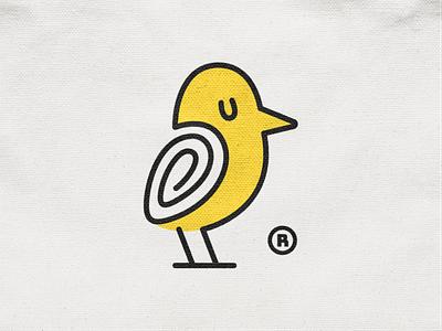 Codo! sleepy minimal monoline nest canary codo swirl wings bird animal illustration logodesign logo design symbol branding brand icon mark logo