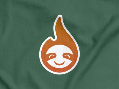 Sloth Flame Mascot! cute bear koala smile lazy happy flame fire panda sloth animal illustration logodesign logo design symbol branding brand icon mark logo