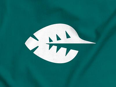 Swordfish + Leaf! sharp sea marine shark plant leaf swordfish fish abstract monochrome geometric logodesign logo design symbol branding brand icon mark logo