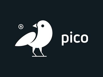 Pico! parrot hummingbird nest pico illustration wings bird illustrator monochrome geometric logodesign logo design symbol branding brand icon mark logo
