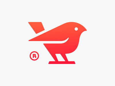Twetty! grids tweet nest wings bird abstract monochrome geometric logodesign logo design symbol branding brand icon mark logo