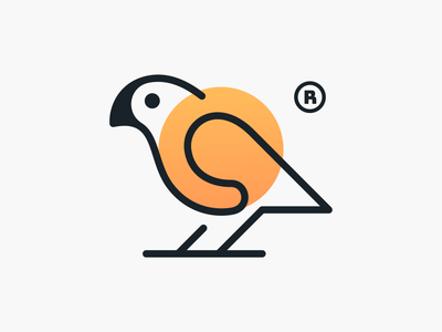 Monoline Parrot! icons logos brand identity nest wings bird parrot monoline geometric logodesign logo design symbol branding brand icon mark logo