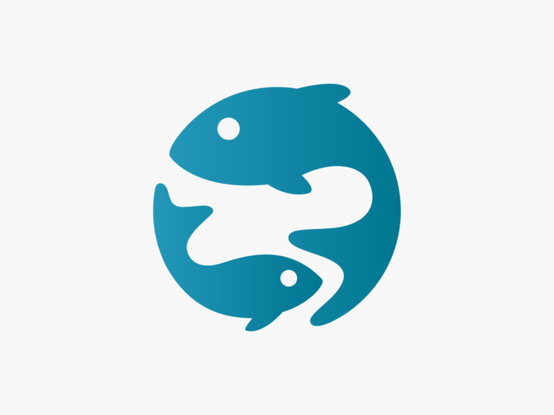 Fish mark! logos sketch brand identity illustrations sea fishing aquarium marine fish illustration monochrome geometric logodesign logo design symbol branding brand icon mark logo