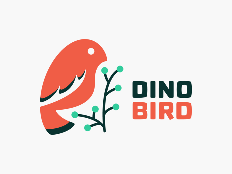 Dino Bird! logo designer logos brand identity tweet nest wings plant bird illustration logodesign logo design symbol branding brand icon mark logo