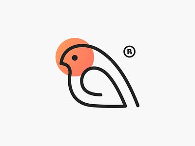 Monobird! logos sun stroke wings nest tweet birds minimal monoline bird abstract illustration logodesign logo design symbol icon branding brand mark logo