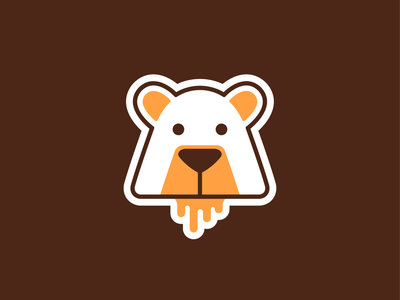 Honey Bear! brand identity logos wild forest sweet honey koala panda bear animal illustration geometric logodesign logo design symbol icon branding brand mark logo