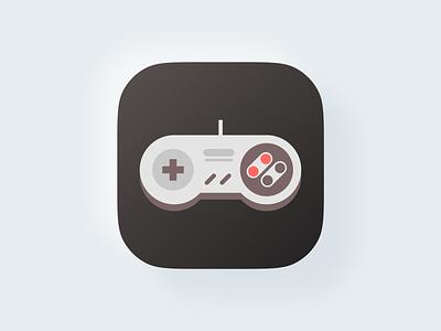 Joystick icon! icons console mark nintendo joystick gaming game big sur ios app icon set illustration geometric logodesign logo design symbol icon branding brand logo