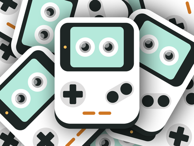 Baby Console! artwork ui design geometric interface playful screen icon brand figma flat nintendo joystick gaming game illustration character console product ux ui