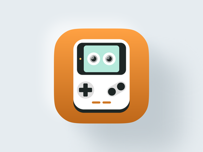 Baby Console icon! flat figma playful nintendo joystick console icon set mac bigsur big sur ios icons gaming game illustration branding icon brand mark logo