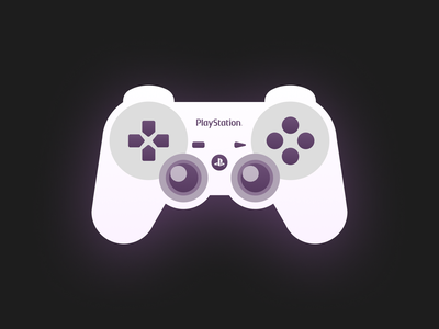 Playstation Controller! sony eyes ux ui gaming game nintendo figma icons icon character controller joystick playstation console vector flat illustrations flat art illustration