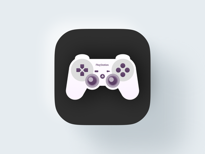 Playstation Controller icon! gaming game mac bigsur ios icons nintendo playstation joystick controller monochrome geometric logodesign logo design symbol branding brand mark icon logo
