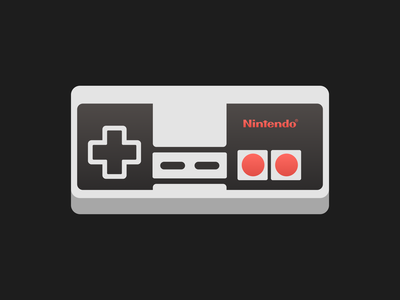 Nintendo NES controller! 2000s 90s joystick play playstation nes nostalgia gaming controller game nintendo console design brand icon geometric vector flatart illustrations illustration