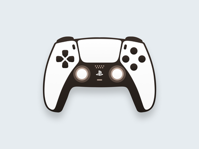 DualSense Controller! play gaming game figma concept art flat playstation5 controller dualsense playstation joystick illustration logodesign logo design symbol branding mark brand logo icon