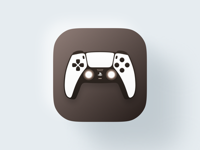 Dualsense Controller icon! app playstation5 playstation controller joystick set mac bigsur ios abstract illustration geometric logodesign logo design symbol branding mark brand logo icon