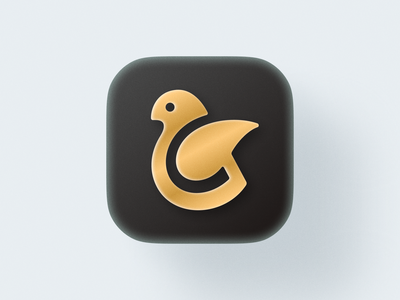 Golden Bird! letter g visual identity brand identity icons ios mac bigsur wing bird abstract geometric logodesign logo design symbol branding mark brand logo icon