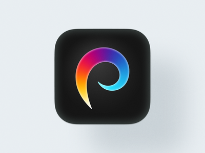 Procreate icon! swirl rainbow app type letter p feather rebranding gradient icons procreate logodesign logo design symbol branding mark brand icon logo
