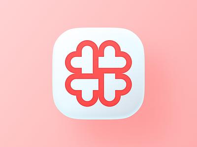 #love app big sur ios icons heart tag hashtag love ui geometric logodesign logo design symbol branding mark brand icon logo