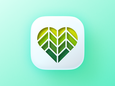 Bio Heart icon! big sur ios cutout tree health bio nature leaf green plant love heart icon logodesign logo design symbol branding mark brand logo