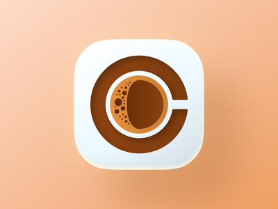 C for Coffee icon! drink app big sur ios 36daysoftype type letter c cup coffee illustration icon geometric logodesign logo design symbol branding mark brand logo