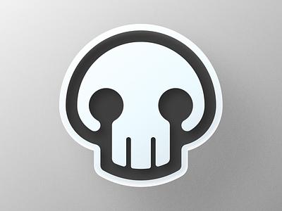 Skull Symbol! big sur mystical mystic skulls texture 3d monochrome halloween skeleton skull abstract illustration icon logodesign logo design symbol branding mark brand logo
