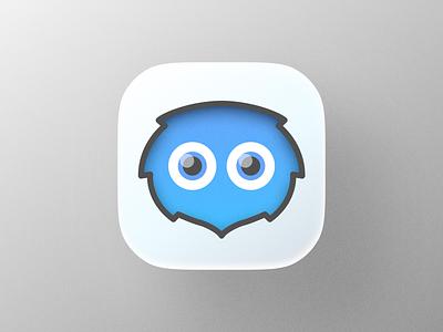 Blue Kuriboh! ios app big sur character cute playful eyes blue yugioh kuriboh animal illustration logodesign icon logo design symbol branding mark brand logo