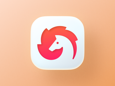 Fire horse icon! brand identity 3d app big sur ios negative space flame fire horse animal icon illustration geometric logodesign logo design symbol branding mark brand logo