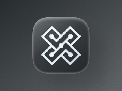 X mark icon! visual identity brand identity nods type app ios big sur tech letter x abstract icon geometric logodesign logo design symbol branding mark brand logo