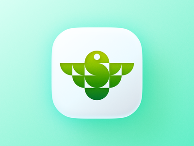 Geometric bird icon! 3d brand identity big sur app ios type letter s wings bird illustration geometric logodesign icon logo design symbol branding mark brand logo