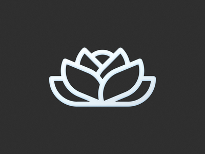Lotus! leaves leaf visual identity brand identity monoline plant rose flower lotus illustration geometric logodesign icon logo design symbol branding mark brand logo