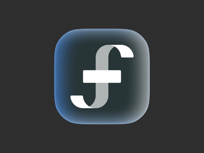Glassy Fellas icon! gradient glass brand identity monogram app ios big sur 3d type letter f geometric logodesign icon logo design symbol branding mark brand logo