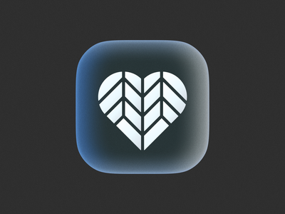 Bio Heart icon! love glass 3d brand identity gradient app bio ios heart monochrome illustration geometric logodesign logo design symbol branding mark brand icon logo